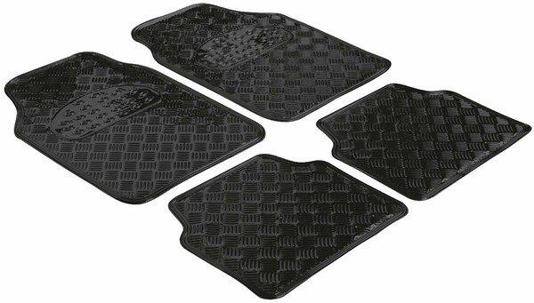 Car Rubber matss Metallic checker plate look black maxi