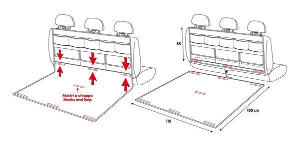 2in1 Multifunktions Schutzmatte und Organizer für den Kofferraum