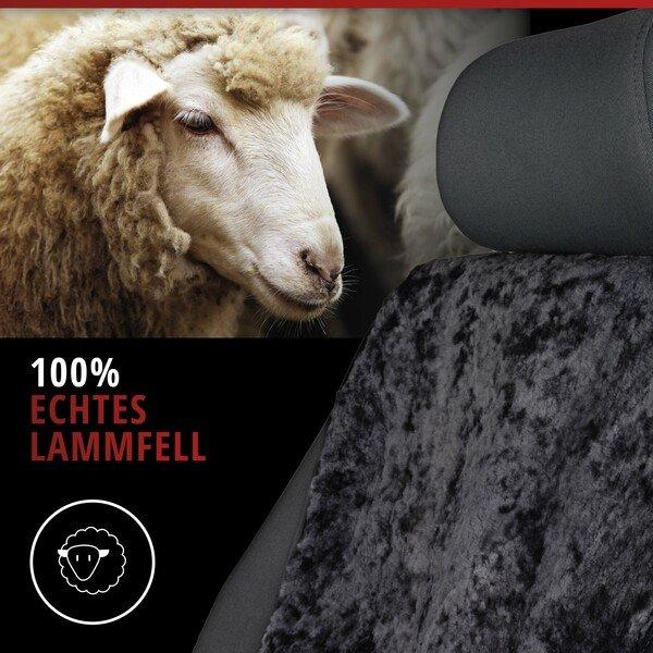 PKW Sitzauflage aus Lammfell Vogue schwarz 16-18mm Fellhöhe