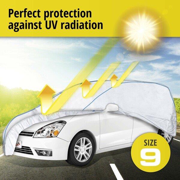 Car tarpaulin Sun Reflect size 9 silver