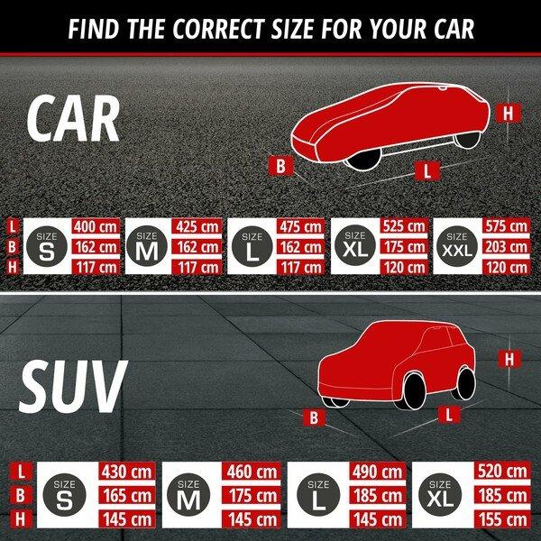 Car hail protection tarpaulin Hybrid UV Protect SUV size M