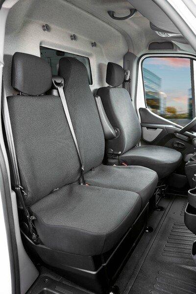 Massgefertigter Sitzbezug Transporter schwarz passt für Opel Movano 2003-2010