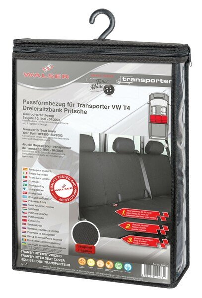 Transporter Seat covers made of polyester for VW T4, bench of 3 platform
