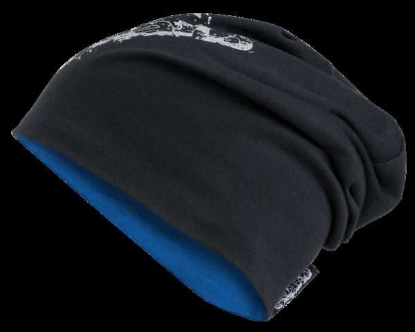 bonnet réversible, casquette, casquette de sport réfléchissante bleu-argent
