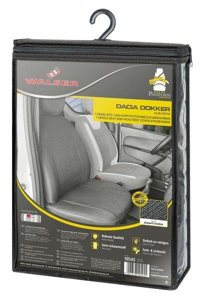 Autoschonbezug Transporter aus Stoff für Dacia Dokker, Einzelsitz Beifahrer