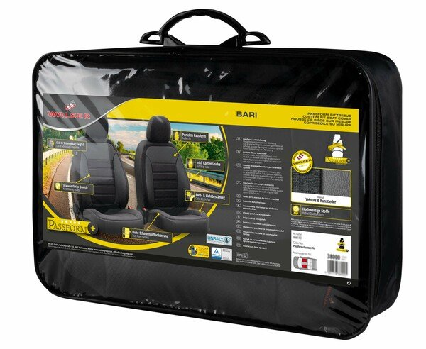 Seat cover Bari for Renault Captur I (J5, H5) year 06/2013-Today, 2 seat covers for normal seats