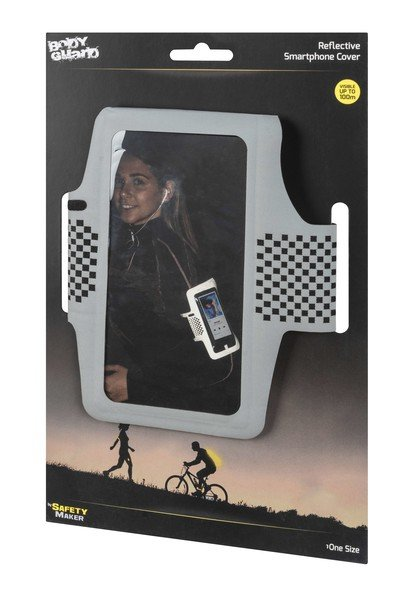 Pochette pour smartphone de sport noir-argent