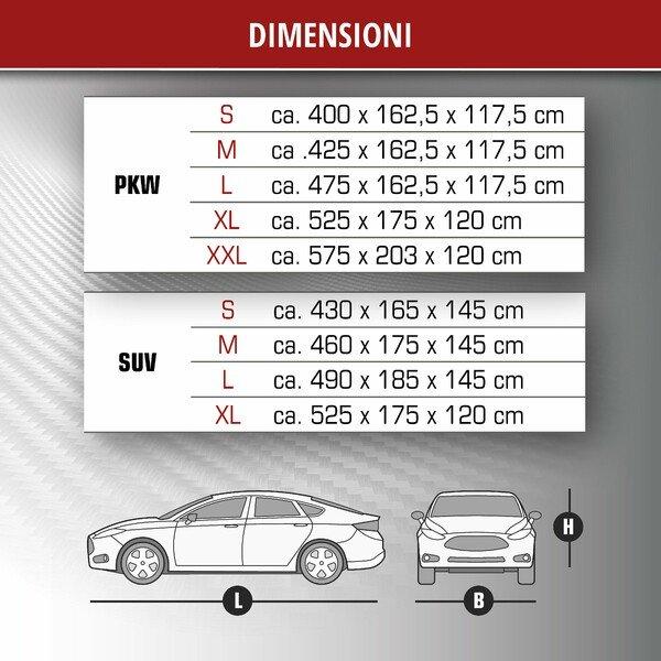 Telone antigrandine per auto Perma Protect taglia S