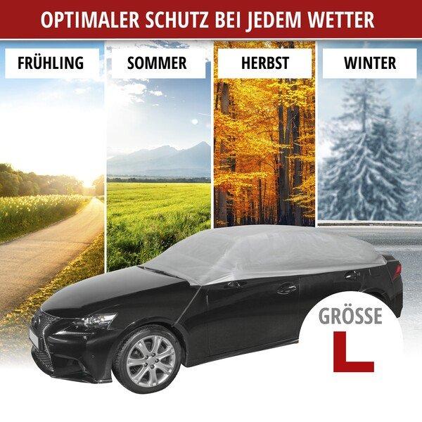Bâche pour voiture All Weather Light demi-garage taille L gris clair