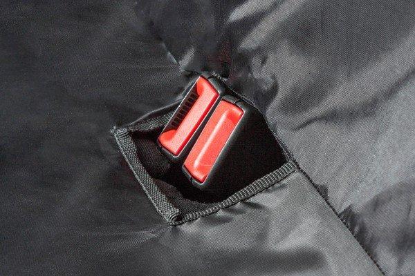Coprisedili posteriore misura universale con guida per cintura Outdoor Sports nero