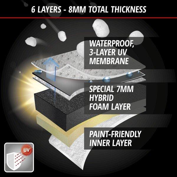 Car hail protection tarpaulin Hybrid UV Protect size XL