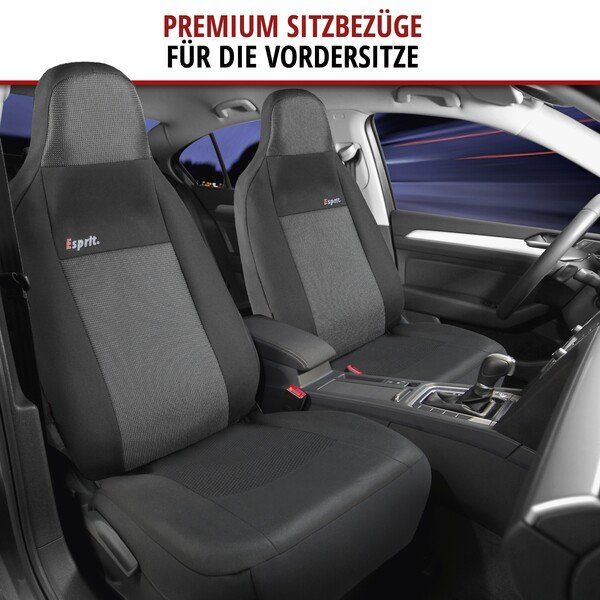 ZIPP IT Premium Esprit Autositzbezüge Komplett Set mit Reißverschluss System