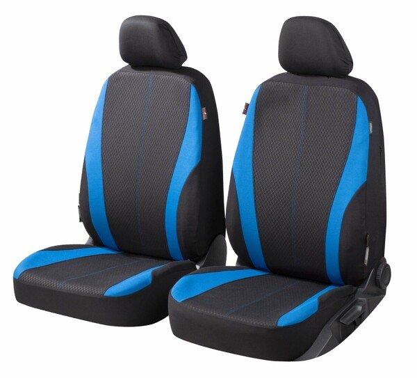 ZIPP IT Coprisedili Dundee per due sedili anteriori con sistema di chiusura lampo nero/blu