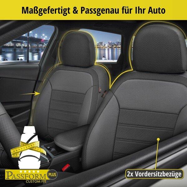 Passform Sitzbezug Aversa für Skoda Rapid 07/2012 - 12/2019, 2 Einzelsitzbezüge für Normalsitze