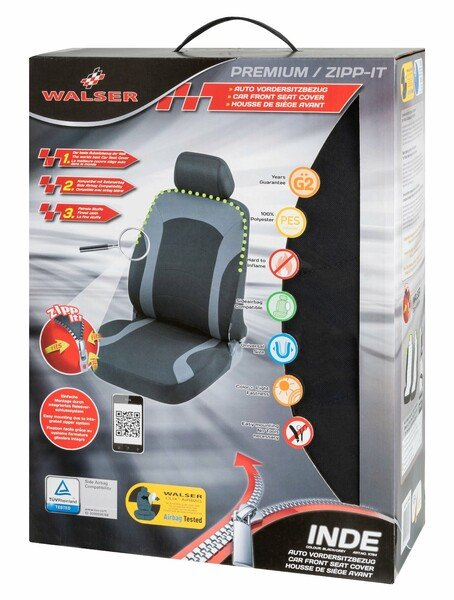 ZIPP IT Premium Inde Auto coprisedile con sistema di chiusura a cerniera