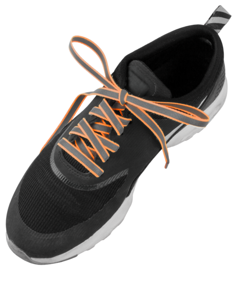 Reflective laces orange