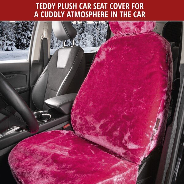 Car seat cover Teddy pink