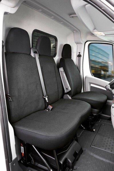 Housse de siège Transporter en tissu pour Fiat Ducato, siège simple et double
