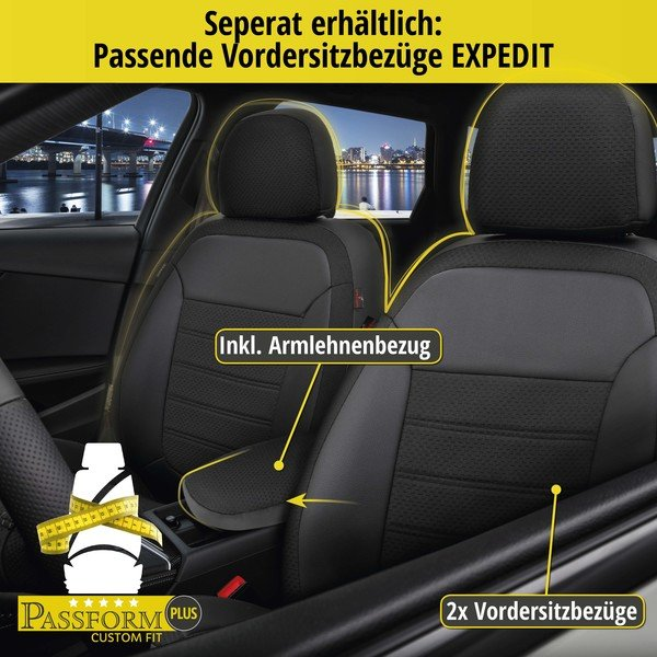 Sitzbezug 'Expedit' für Fiat 500X Baujahr 2015 bis heute - 1 Rücksitzbankbezug für Normalsitze