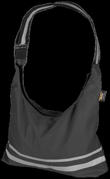 Shopping Bag mit reflektierenden Streifen schwarz