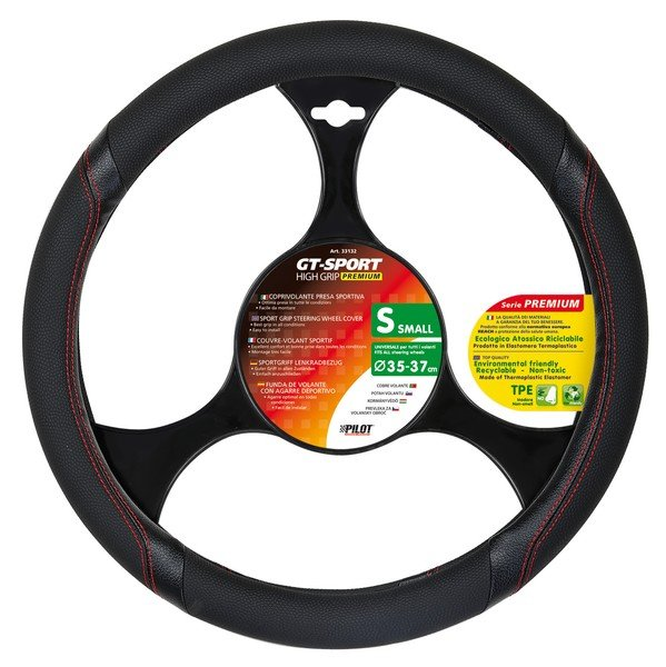 Steering wheel cover with sport handle size S 35-37 cm