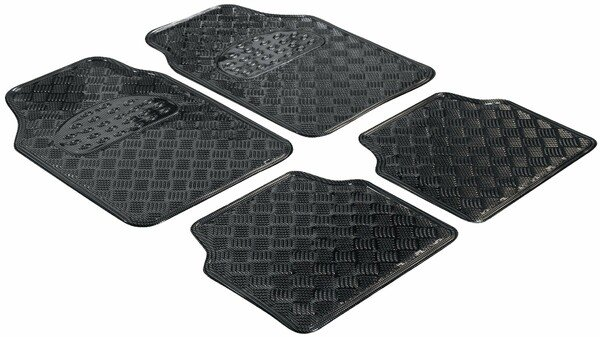 car Rubber matss metallic checker plate look carbon maxi