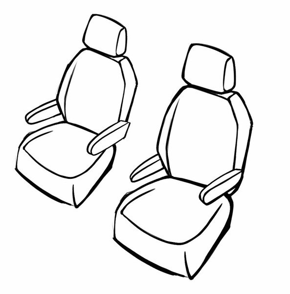 Seat cover Aversa for VW Caravelle VI 04/2015 - Today, 2 seat covers for normal seats