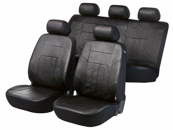 Autositzbezug Soft Nappa schwarz aus Kunstleder