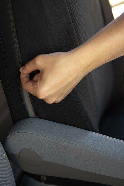 Housses de sièges avec fermeture éclair pour les sièges à appuie-tête intégré