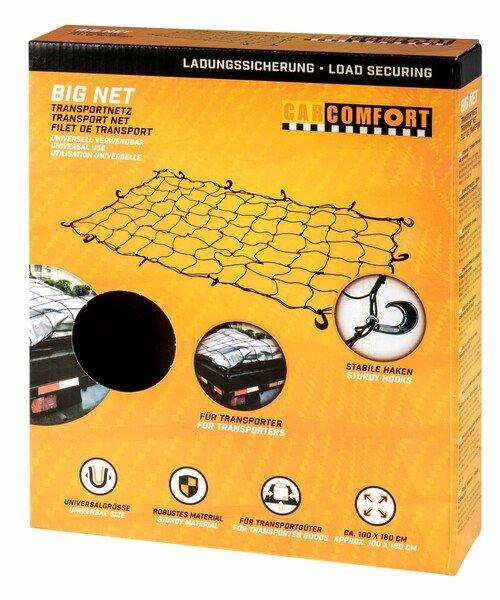 Rete di trasporto Big Net 100x180cm, 4mm nero