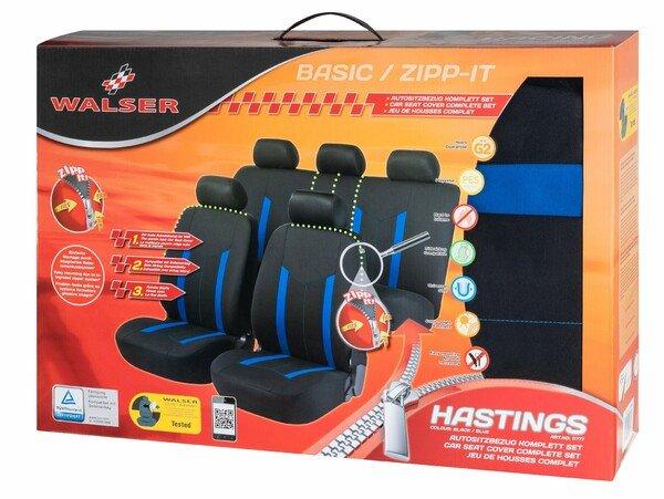 ZIPP-IT Basic Hastings blau Autositzbezüge mit Reissverschluss System