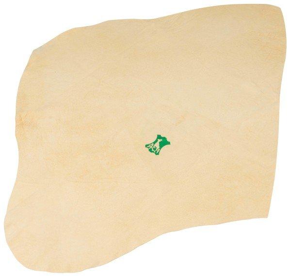 Chamois cloth beige, 52 x 35 cm natural form