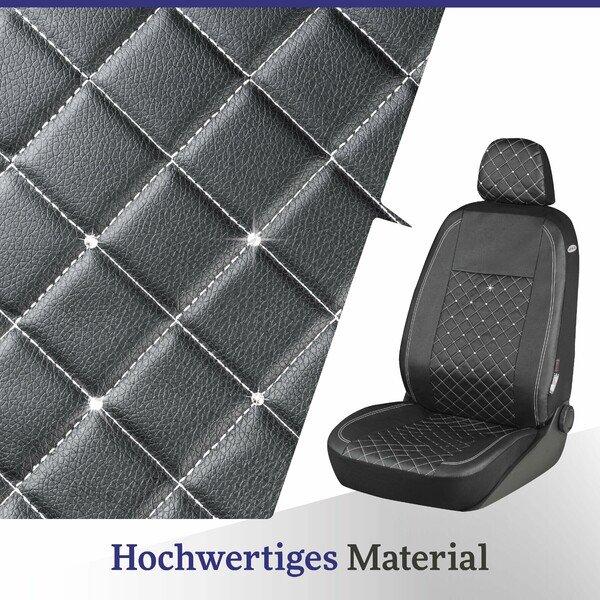 Autositzbezug Scarlett verziert mit Kristallen von Swarovski® für einen Vordersitz