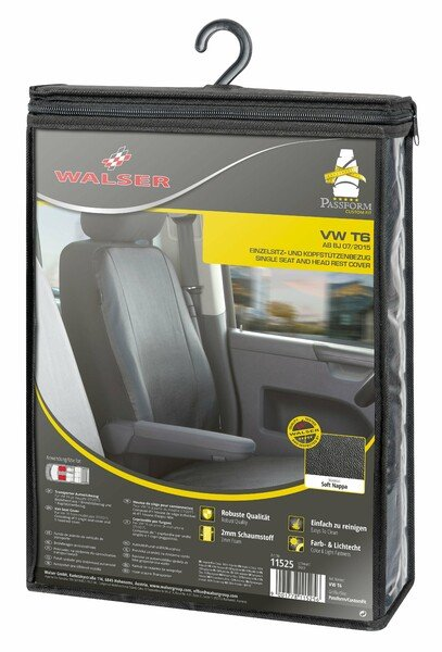 Transporter Seat covers made of imitation leather for VW T6, single front seat