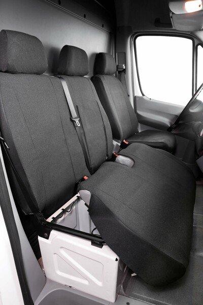 Housse de voiture en polyester compatible avec VW Crafter, Mercedes Sprinter, banquette unique et double