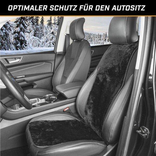 PKW Sitzauflage aus Lammfell Cosmo schwarz 12-14mm Fellhöhe