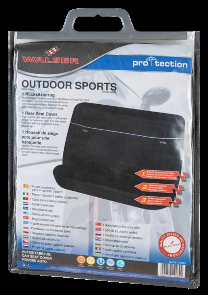PKW Rückbank Sitzschoner Outdoor Sports schwarz