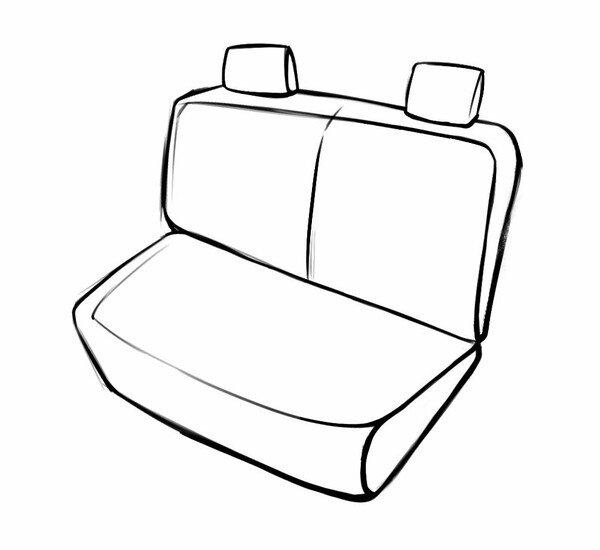 Sitzbezug Torino für Mini Cooper 2013 - Heute, 1 Rücksitzbankbezug für Normalsitze