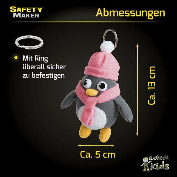 Safety Maker Soft Anhänger Pingu silber reflektierend