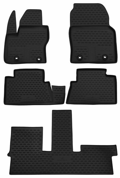 XTR rubber mats for Ford Grand C-Max, 7-seater year 12/2010 - Today