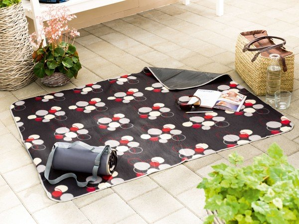 Travelling rug picnic blanket Laura grey 125x134cm