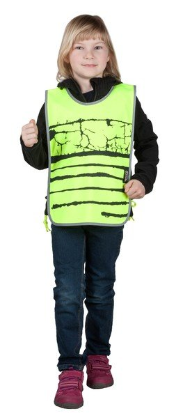 Reflective children's vest yellow
