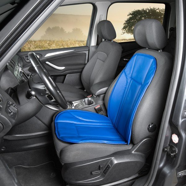Car Seat cover in imitation leather Ravenna blue