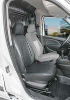 Car Seat cover Transporter made of imitation leather for Fiat Doblo 2, single seat passenger