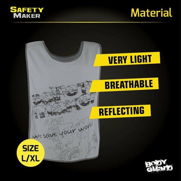 Reflective leisure vest L-XL silver