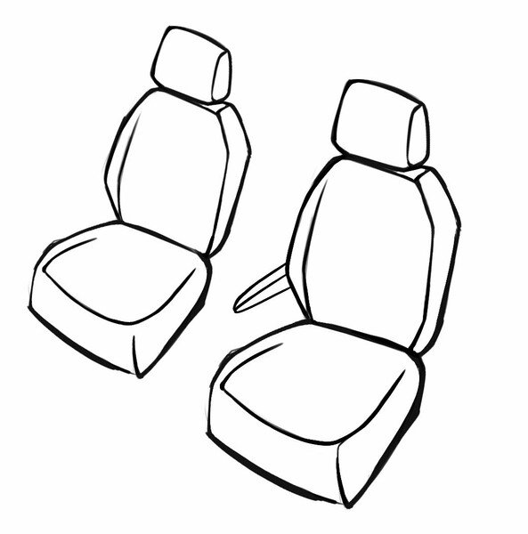 Premium Car Seat cover for Opel Combo 06/2018-Today, 2 single seat covers front + 1 armrest cover