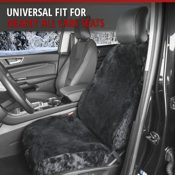 Car Seat cover Monette made of lambskin black with ZIPP IT system