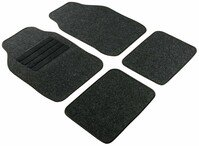 doormats set 4pcs Regio black