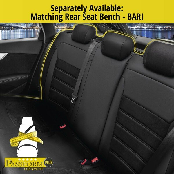 Seat cover Bari for Mercedes-Benz VITO Mixto W447 year 10/2014-Today, 2 seat covers for normal seats