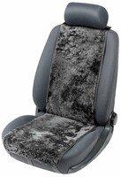 Housses de sièges en agneau Cosmo noir 12-14mm hauteur de fourrure